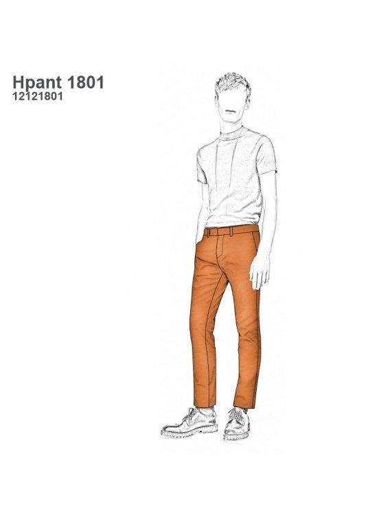 Molde Pantalon Slim Fit Hombre 1801