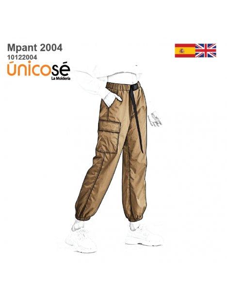 Molde Pantalon Cargo Mujer 2004