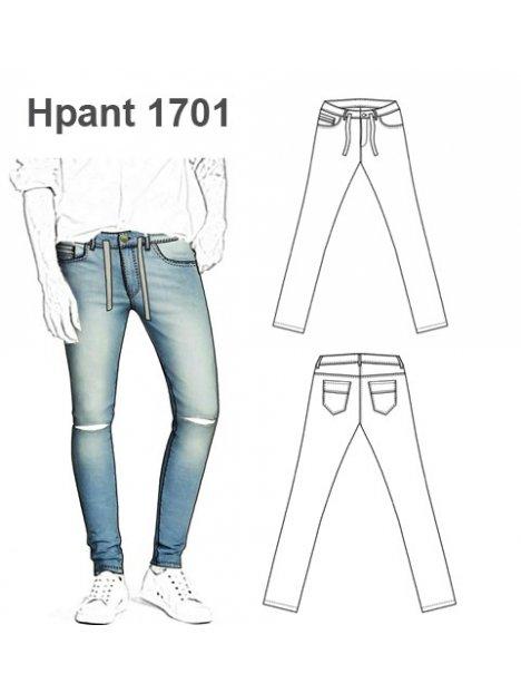 Molde Pantalon Jeans Hombre 1701
