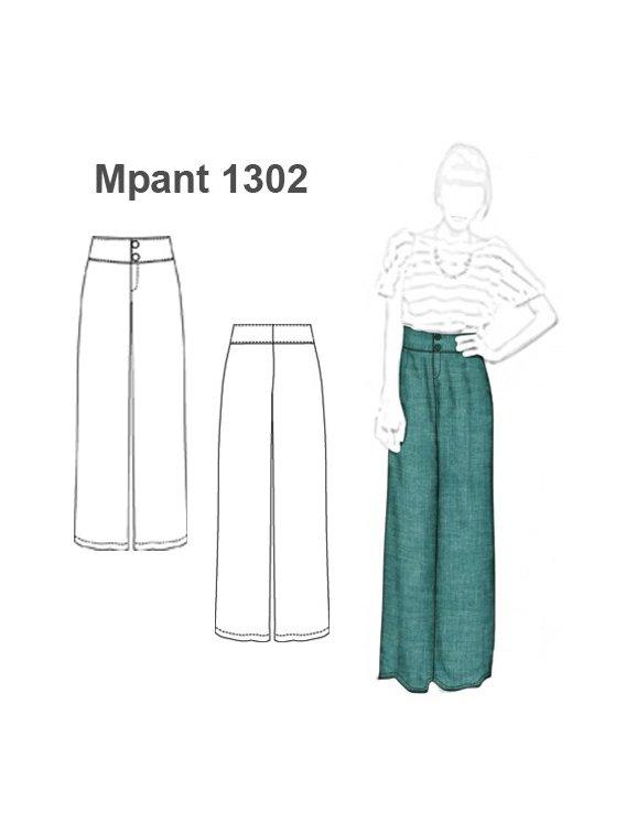 Molde Pantalon Palazzo Mujer 1302