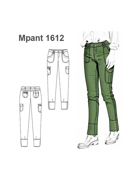 Molde Pantalon Cargo Mujer 1612