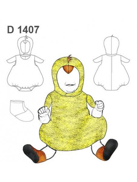 DISFRAZ DE POLLO BEBE 1407