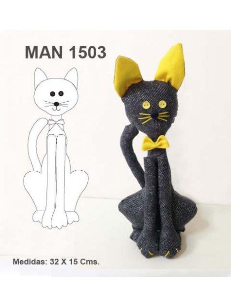 MUÑECO GATO MAN 1503