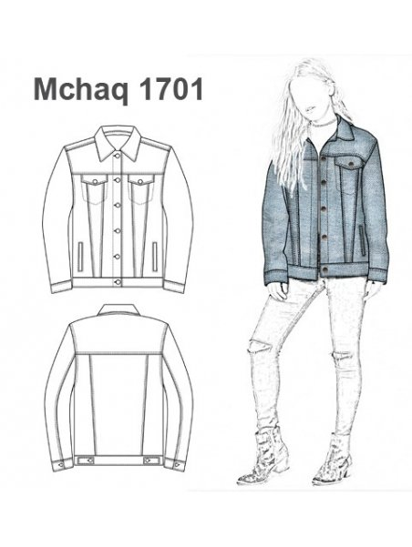 CHAQUETA CAMPERA JEANS OVERSIZE MUJER