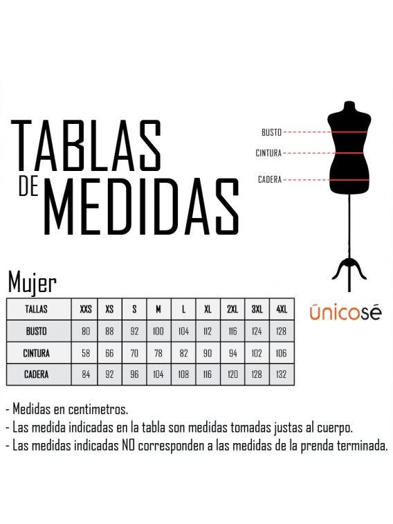 TABLA DE MEDIDAS MUJER